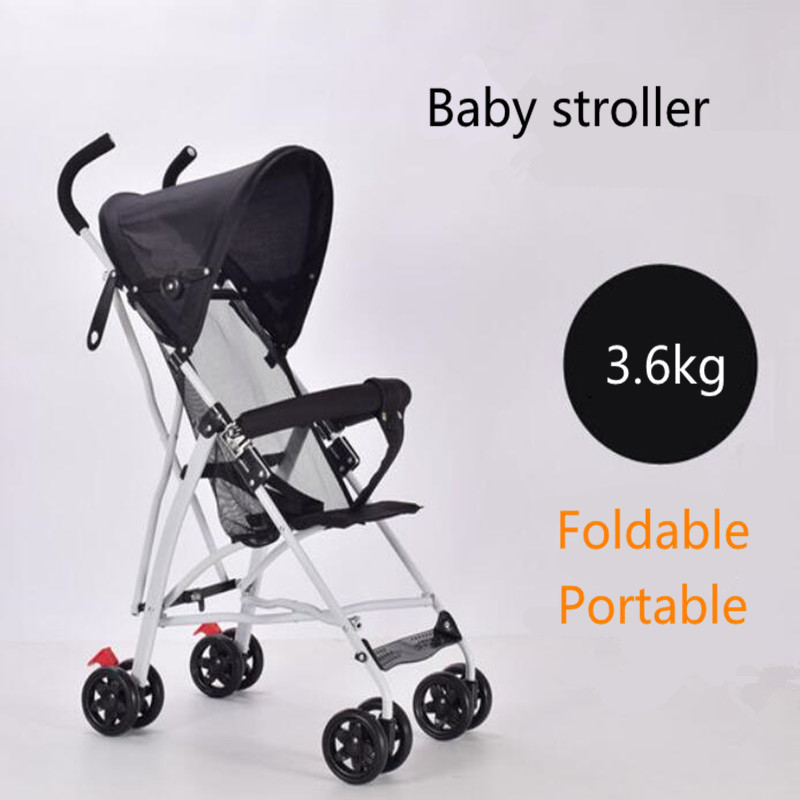 Baby Stroller Portable Foldable Strollers Pram for Newborn Four wheel Kids Carriage Travel Buggy Pushchair Lightweight Trolley|Four Wheels Stroller|Mother & Kids - title=