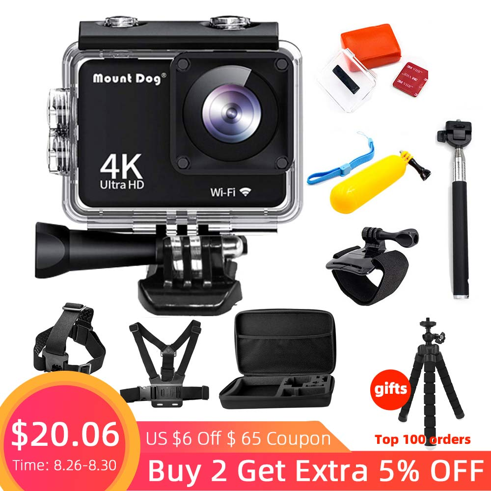 Waterproof Ultra HD 4K 1080P LCD Action Camera With WiFi Sports Video Recoding Cam Underwater Cameras tech 2 scanner for sale
