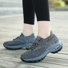 Women Walking Shoes Super Soft Height Increase Travel Outdoor Shoes HB88(China)