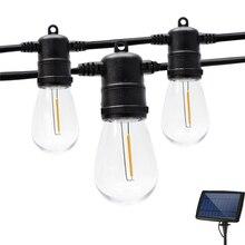 Солнечный светильник на открытом воздухе уличный гирлянда лампы строка светильник s устойчивый к тряске E26 Пластик Эдисон лампы открытый св...