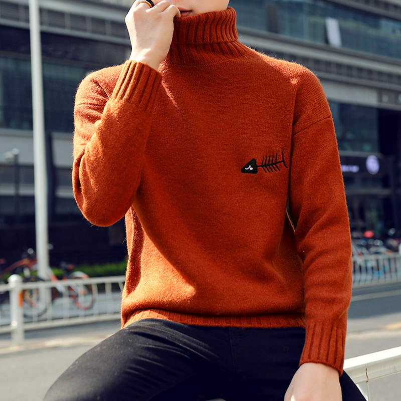 Image 3 - 2019 New Winter Thick Warm Cashmere Sweater Men Turtleneck Printed Mens Christmas Sweaters High Quality Fashion Men's Pullovers-in Pullovers from Men's Clothing
