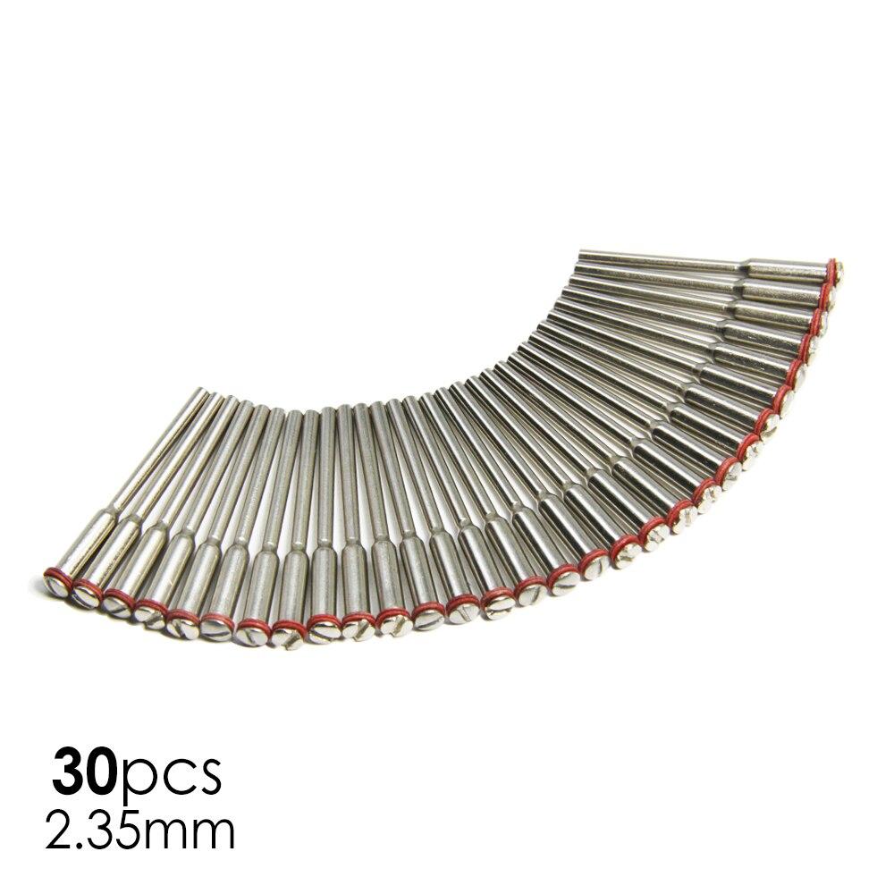 30 шт. оправки для дрели 2,35 мм хвостовик для усиленного отрезного диска Аксессуары для мини дрели для вращающегося инструмента Dremel