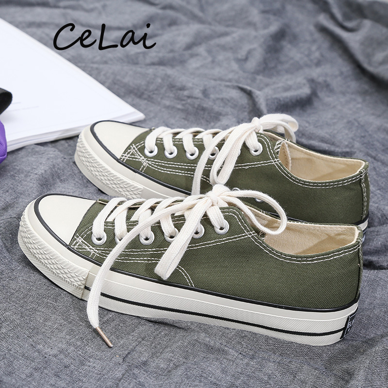 CeLai 2019 Ins Men Sneakers Red Canvas Shoes Men Casual Shoes Breathable Classic Male Board Shoes Black Tenis Masculino A-008