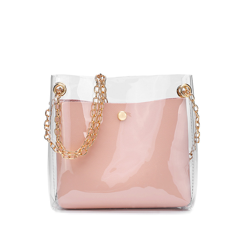 Luxury Handbags New Single Handbag Women Bags Designer Fashion Transparent Bags For Women 2020 Purse Solid Large Capacity