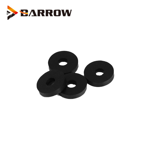 8Pcs/Bag  Barrow Black Silicone Pump Anti shock Absorber gasket 2.3mm thickness 4mm diameter can use M4 screw ,OGQ1204-2 1