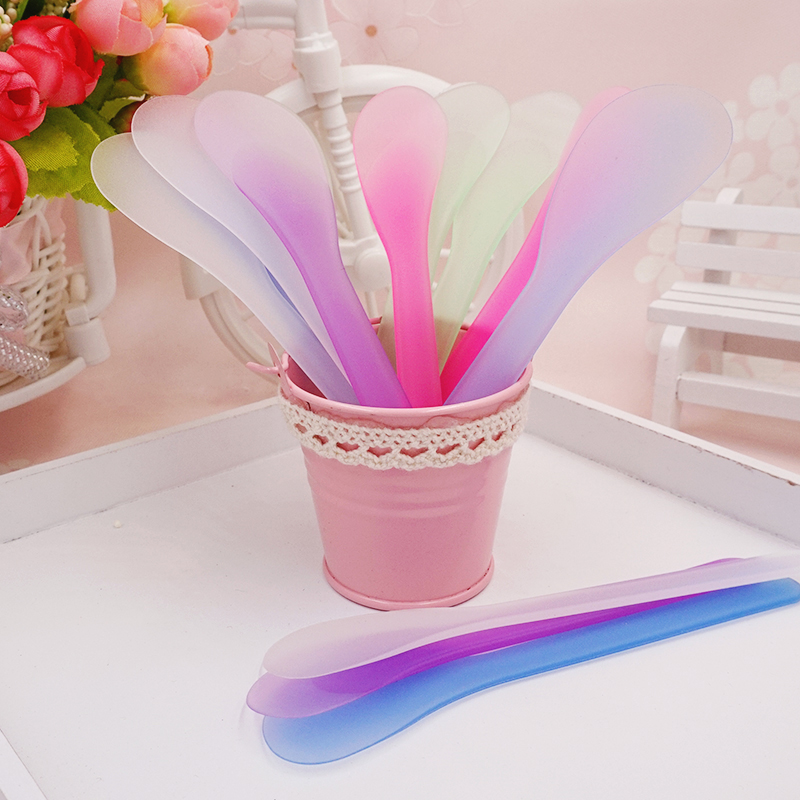 10pcs /set DIY Facial Mask Bowl Makeup Homemade Makeup Beauty Spoon Stick Tool Mixing Spoon Brush Facial Cosmetic Tool TSLM1