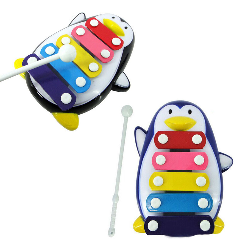 Baby Child Kid 5-Note Xylophone Musical Toys Wisdom Development Penguin My Melody Kids Toys For Children