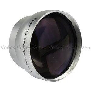 Image 3 - Tặng! 55Mm 2.0X Ren Ống Kính Phóng Đại Ống Kính Điện Thoại Tele Bộ Chuyển Đổi Ống Kính Cho Máy Canon NIKON PENTAX DSLR SLR Camera Bạc