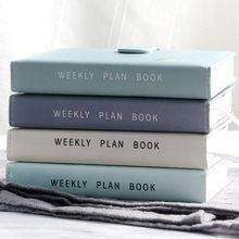 Fivela magnética de cor sólida, design de fivela magnética de 365 dias, plano semanal, livros de diário, material escolar, presente de papelaria