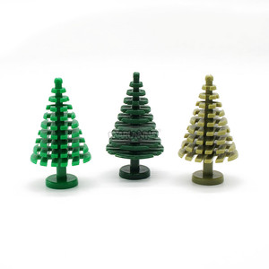Image 2 - MARUMINE Spruce Tree Compatible 3471 City Stalk Grass Flower City Part Classic Bricks Construction Educational Toys