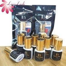 10 בקבוקים/הרבה קוריאה IB Ibeauty סופר בתוספת דבק לרחבות ריס מקורי 5ml שחור דבק זהב כובע איפור כלים חדש תווית