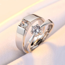 Simple 925 Sterling Rings for Women Men Cubic Zirconia Engagement Wedding  Anniversary Couples Ring NO30-37 black cubic zirconia 925 sterling silver men s ring