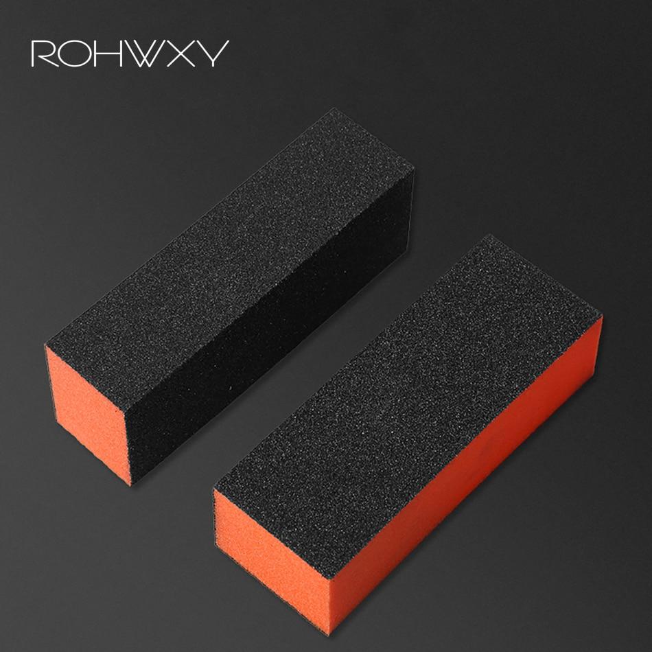 ROHWXY Black Form Nail Buffers File For UV Gel Nail File Buffer Block Polish Manicure Pedicure Sanding Nail Art Tool