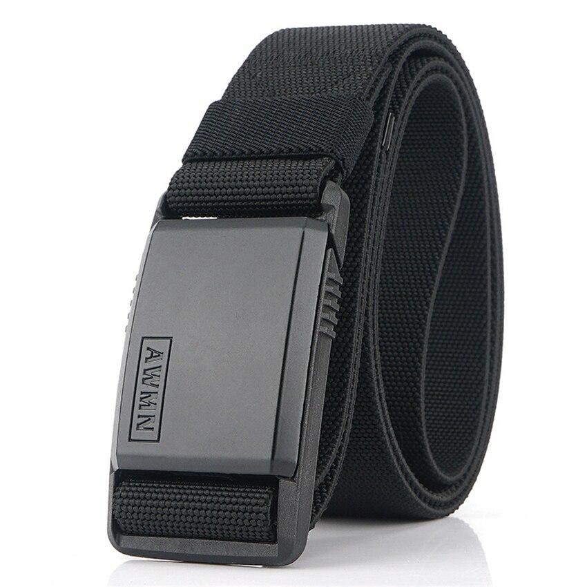 2022 Fashion Nylon Belt Metal Magnetic Buckle Adjustable Belts For Men Military Combat Elastic Belts High Quality Wear-resistant