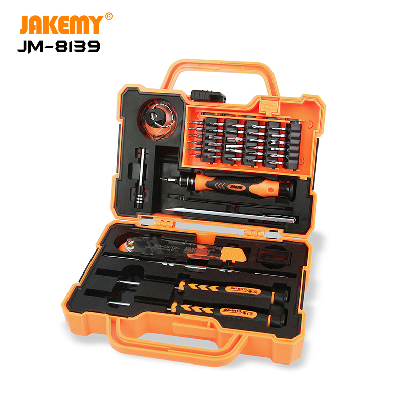 JAKEMY JM-8139 Multi-functional CR-V Driver Household Hand Tool Screwdriver Tool Box Set for Electronic DIY Repair