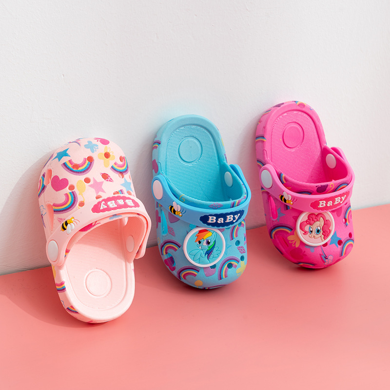 Unicorn Slippers Rainbow Slippers Baby Kids Crocs Children Toddler Summer Shoes Hotel Slippers Boys Home Boots Pool Slippers