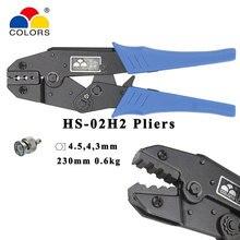 цена на HS-02H1 coaxial crimping pliers RG58/59/62,8X coaxial crimper SMA/BNC connectors carbon steel ratchet crimping tool
