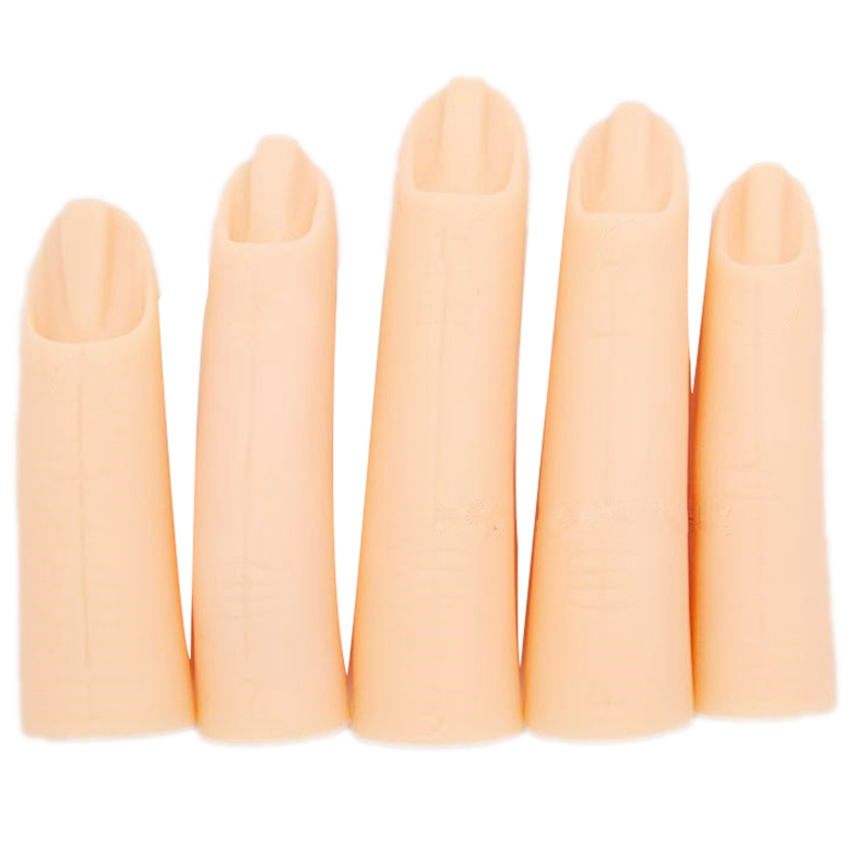 5Pcs/Set Nail Art Trainer Practice Training Finger Model For Acrylic Gel Manicure Salon Tools