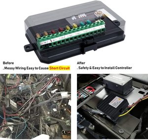 Image 5 - Auto 8 Gang Switch Panel Electronic Relay System with Circuit Control Box Waterproof Fuse Relay Box Wiring Harness Label Sticker