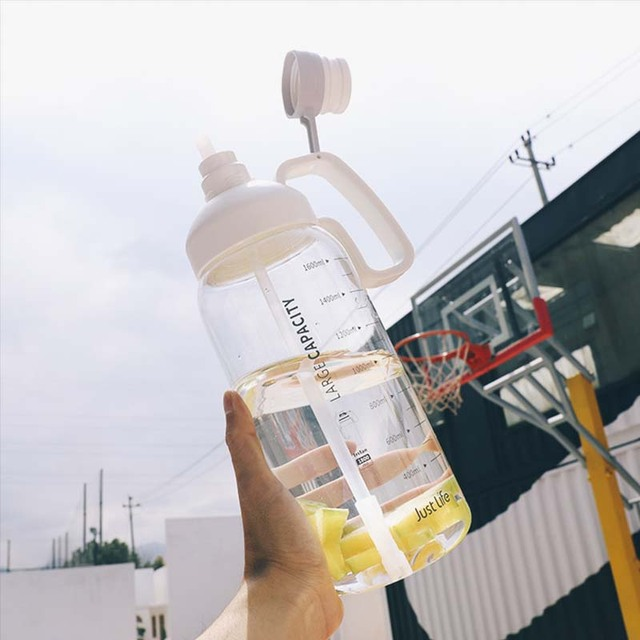Sport Water Bottles Portable Gym anti-fall Leak-proof large Capacity fitness