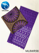 BEAUTIFICAL wax prints and african dry lace 3 + 2.5 yards dress sewing fabrics ML8WR93-116