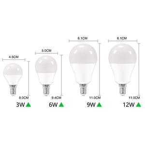 Image 4 - 10 قطعة LED لمبة عكس الضوء مصباح E27 E14 الطاقة الحقيقية 24 واط 20 واط 18 واط 15 واط 12 واط 9 واط 6 واط RGB led لمبة AC220V 240 فولت الذكية IC Lampada LED مصباح