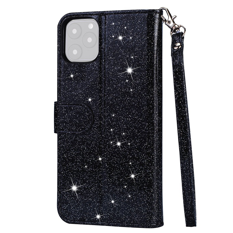 for IPhone 11 Pro Glitter Leather Wallet Case Zipper Shockproof Flip Cover 5.8 inch