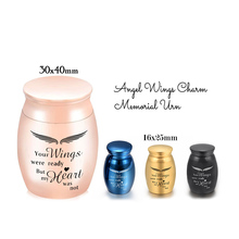 Urns Memorial Cremation-Urn Ashes Human-Ashes-Holder Small Mini for Pet Angel-Wings Not-Deformed