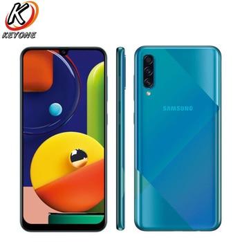 Перейти на Алиэкспресс и купить Новый Samsung Galaxy A50s A5070 мобильный телефон 6,4 дюйма 6 ГБ ОЗУ 128 Гб ПЗУ Восьмиядерный тройной задний экран камеры отпечаток пальца две sim-карты