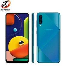 "Nuevo teléfono móvil Samsung Galaxy A50s A5070 6,4 ""6GB RAM 128GB ROM Octa Core triple cámara trasera pantalla huella digital teléfono Dual SIM"