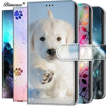 Cute Cat Wolf Wallet Flip PU Leather Case For Samsung Galaxy S10E S10 S9 Plus S8 G9500 Stand Coque Back Cover Mobile Phone Bags 1