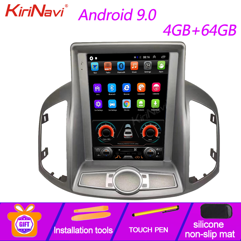 KiriNavi Android 9.0 Tesla Style vertical screen Car Radio For Chevrolet Captiva Multimedia Player GPS Auto Navigation 2012-2017 image