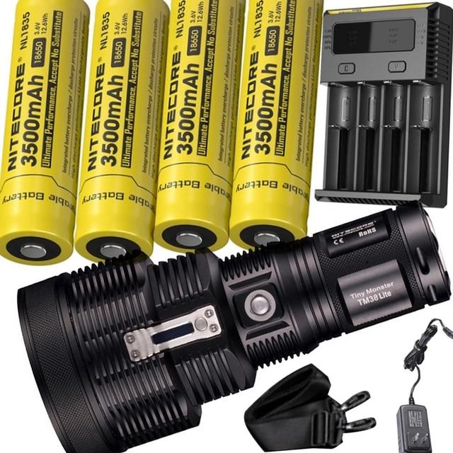 NITECORE TM38 torcia elettrica ricaricabile del CREE XHP35 HI D4 max 1800 lumen faro fascio di 1400 metro torcia + NBP68 HD Batteria pacchetto