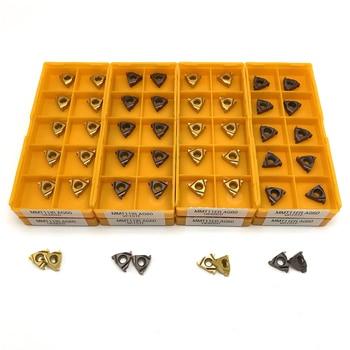 MMT 11ER 11IR AG55 AG60 Thread Turning Tool Cutting tool External threading carbide threading insert lathe tools turning insert 4mm center hole gold tone alloy 1 2 external threading insert chip