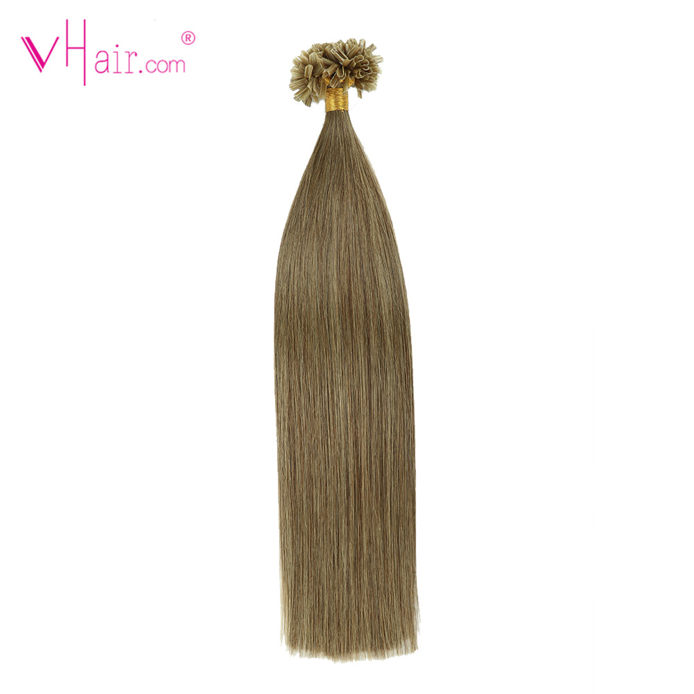 VHair U Tip Hair 16 Inch 1g/s 50g/pac 100% Real Remy Fusion Human Hair Extension Keratin Natural Colored Strands Of Hair Capsule