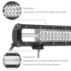 Image 4 - Triple Reihe Led Work Light Off road Bar Für 12V Auto Uza Boot ATV 4WD Suv Lkw 4x4 Offroad Lada Niva Combo Fahren Barra Lichter