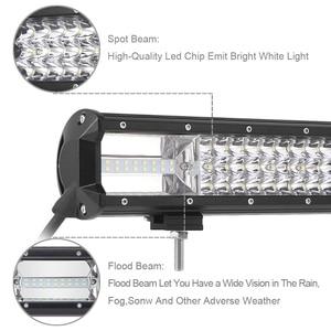 Image 4 - Triple Row Led Work Light Off road Bar For 12V Car Uza Boat ATV 4WD Suv Trucks 4x4 Offroad Lada Niva Combo Driving Barra Lights