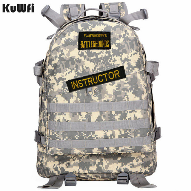Playerunknowns Battlegrounds PUBG Winner Chicken Dinner Unisex Casual Backpack Multi functional Multicolor