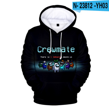 New Autumn Winter Tops Funny Print Among Us Hoodie Cartoon 3D Printed Pullover Sweatshirt Adult Harajuku Anime Pullover 19
