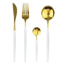 Домашний Кухня посуда Нержавеющаясталь набор столовых приборов