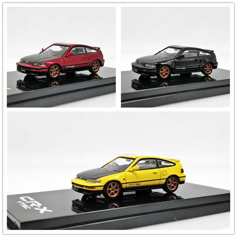 Hobby Japan 1:64 Honda CRX-EF8 Customized Carbon Bonnet Ver Diecast Model Car