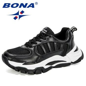 BONA-Zapatillas para correr para Mujer, calzado De exterior para correr, caminar, novedad...