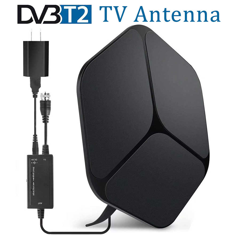 Satxtrem DVB T2 Antenna TV Digital for tdt TV Receiver HD DVB-T2 Indoor TV Antenna Amplifier HDTV UHF DVBT Antena TV 80 Miles
