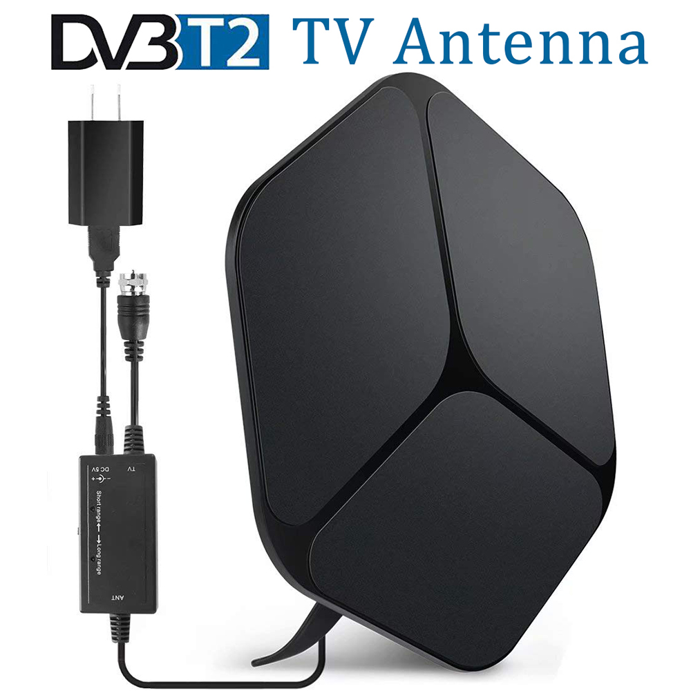 DVB-T2 Arial TV Antenna Signal Amplifier Booster 80 Miles Range HDTV Receiver