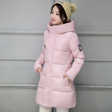 KMVEXO Long Parkas Female Women Winter Coat Thickening Cotton Jacket Womens Outwear For