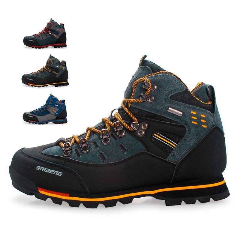 Snow-Boots Hiking-Shoes Mountain-Climbing Outdoor Fashion Winter Casual Men Top-Quality
