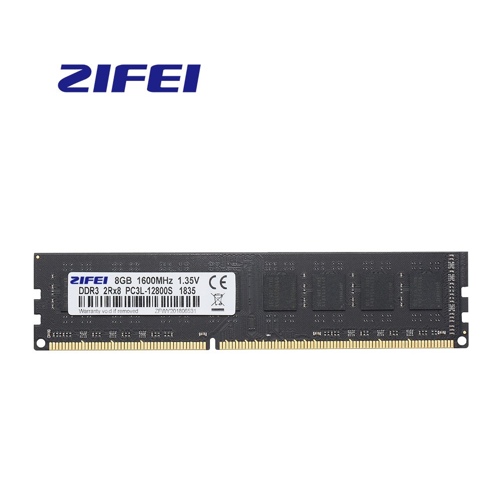 ZiFei ram DDR3L 16GB(8GB*2PCS) 1333MHZ 1600MHZ 240Pin LO-DIMM Fully compatible for Desktop image