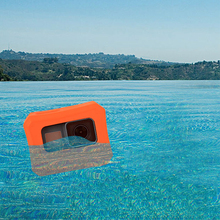 Silicone Soft Rubber Floaty Floating Frame Protective Cover Housing Case for GoPro Go Pro Hero 5 / 6 7 Orange