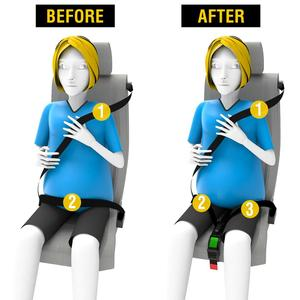 Image 2 - 2 Piece Pregnant Safety Belt, Pregnant Car Seat Belt Adjuster,Comfort and Safety for Maternity Moms Belly,Protect Unborn Baby