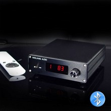 TZT PGA2310/PGA2311 Bluetooth 5.0 원격 프리 앰프 2 채널 프리 앰프 볼륨 컨트롤 다중 입력 선택